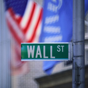 Image: Wall Street sign, Corbis SuperStock